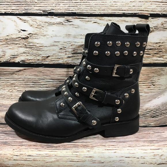 5888c58080d Steve Madden studded spunky moto boots black 8. M 5b30145b04e33ddf009c9afa